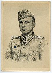 Heer - Originalunterschrift von Ritterkreuzträger Oberfeldwebel Hans Hindelang
