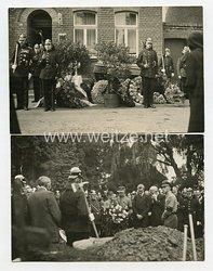 III. Reich Fotos, Beisetzung eines Feuermannes