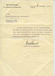 III. Reich - Originalunterschrift von Oberst Otto Kuschow dem späteren Polizeipräsidenten von Nürnberg