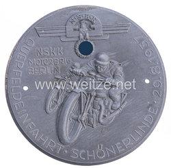 """NSKK - nichttragbare Teilnehmerplakette - """" NSKK Motorbrigade Berlin Querfeldeinfahrt Schönerlinde 29.8.1937 """""""