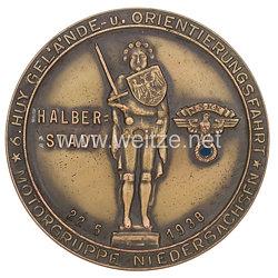 """NSKK - nichttragbare Teilnehmerplakette - """" NSKK 6. Huy-Gelände und Orientierungsfahrt Halberstadt Motorbrigade Niedersachsen 22.5.1938 """""""
