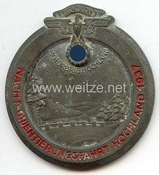 NSKK - nichttragbare Teilnehmerplakette - Motorbrigade Hochland - Nacht-Orientierungsfahrt Hochland 1937