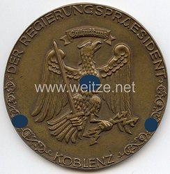 """III. Reich - nichttragbare Teilnehmerplakette """" Der Regierungspräsident Koblenz - Hunsrück-Orientierungsfahrt 1937 - Gott mit uns """""""