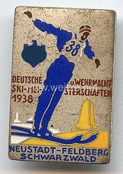 III. Reich - Erinnerungsabzeichen an die Deutsche u. Wehrmacht Ski-Meisterschaften 1938 Neustadt-Feldberg Schwarzwald