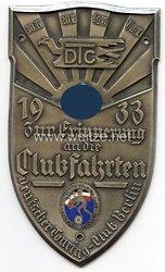 """Deutscher Touring-Club Berlin ( D.T.C.) - nichttragbare Erinnerungsmedaille - """" Zur Erinnerung an die Clubfahrten 1933 - 30.4., 20.5., 8./9.6., 7./8.10. """""""