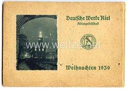 Kriegsmarine - Geschenkmappe der Deutsche Werke Kiel A.G. zu Weihnachten 1939