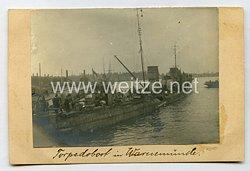 Erster Weltkrieg Foto, Kaiserliche Marine, Torpedoboot in Warnemünde