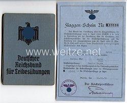 Nationalsozialistischer Reichsbund für Leibesübungen ( NSRL ) - Mitgliedsbuch und Flaggen-Schein