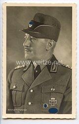III. Reich - Portraitpostkarte von Reichsarbeitsdienstführer Konstantin Hierl
