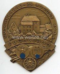 """NSKK / DDAC - nichttragbare Teilnehmerplakette - """" Fuchsjagd Nuschelberg 26. August 1934 """""""