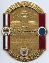 """III. Reich - ADAC ( Allgemeiner Deutscher Automobil-Club ) - nichttragbare Siegerplakette - """" Sieger Dritte Nordbadische Nacht- u. Tag-Orientierungsfahrt Mannheimer Automobil-Club e.V. 1933 """""""