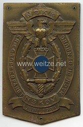 """NSKK / NSKOV - nichttragbare Teilnehmerplakette """" Kriegsopferfahrt nach Riedenburg Juni 1934 """""""