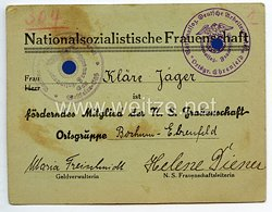NS-Frauenschaft Ortsgruppe Bochum-Ehrenfeld - Ausweis als förderndes Mitglied