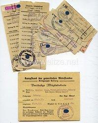 III. Reich - Kampfbund des gewerblichen Mittelstandes - Ortsgruppe Coburg - Vorläufige Mitgliedskarte