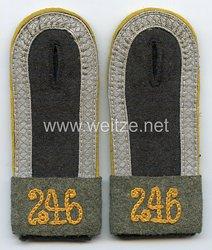 Wehrmacht Heer Paar Schulterklappen für einen Unteroffizier Divisions-Aufklärungs-Abteilung 246