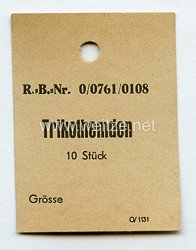 Wehrmacht Etikett für Trikothemd