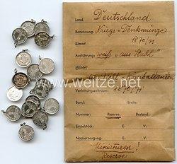 Preussen Kriegsdenkmünze 1870/1871 für Nichtkämpfer - Miniatur