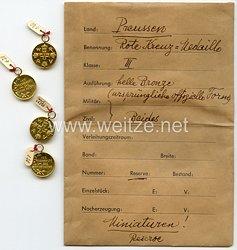 Preussen Rot-Kreuz-Medaille 3. Klasse - Miniatur