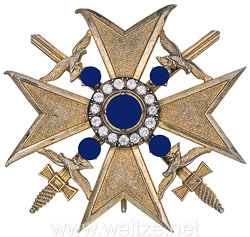 Spanienkreuz in Gold mit Schwertern und Brillanten aus dem Besitz von General Hellmuth Volkmann