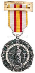 """Spanischer Bürgerkrieg 1936-39, große silberne Tapferkeitsmedaille """"Medalla Militar Individual"""" mit Brillanten aus dem Besitz von General Hellmuth Volkmann"""