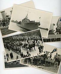 Kriegsmarine Fotogruppe, Totenwache für Botschafter von Hirsch auf dem Britischen Zerstörer H51 - Scout 1936