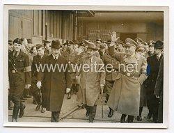 III. Reich Pressefoto. Außenminister Matsuoka besucht die Schaffenden Berlins. 5.4.1941.