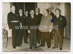 III. Reich Pressefoto. Japans Außenminister bei Reichswirtschaftsminister Funk. 28.3.1941.