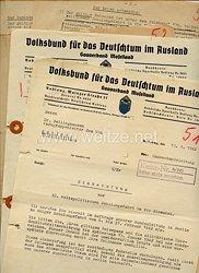 VDA ( Volksbund für das Deutschtum im Ausland ) Gauverband Moselland - Dokumentengruppe zur 10. volkspolitischen Schulungsfahrt in die Slowakei