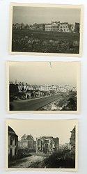 Bundesrepublik Deutschland Fotos, Ruinen an der Frankfurter Straße / Friedrichsplatz 1949