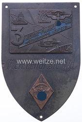 "NSKK - nichttragbarer Mannschaftsschild - "" Motorgruppe Leipzig - 3. Heidefahrt 14. Mai 1939 """
