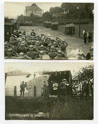 Weimarer Republik Fotos, Trauermarsch für die verstorbenen des Eisenbahnunglücks in Lauknitz