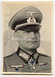 Heer - Originalunterschrift von Ritterkreuzträger Generalleutnant Erich Jaschke