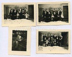 Waffen-SS Foto, SS-Unterscharführer mit seiner Familie