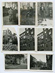 Luftwaffe Fotogruppe, Unteroffizier in einer zerstörten deutschen Stadt