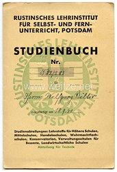 III. Reich - Rustinisches Lehrinstitut für Selbst- und Fernunterricht Potsdam - Studienbuch