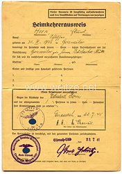 III. Reich - Heimkehrerausweis