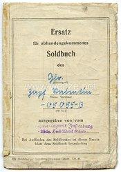 Ersatz für abhandengekommenes Soldbuch eines Gefreiten der Fp.-Nr. 05055 ( Inf.-Rgt.3 )