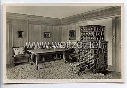 "III. Reich - Propaganda-Postkarte - "" Berghof Wachenfeld "" - Fremdenzimmer"