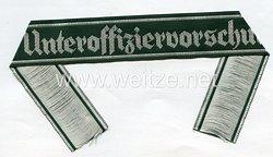 "Wehrmacht Heer Ärmelband ""Unteroffiziervorschule"""