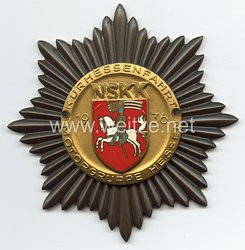 """NSKK - nichttragbare Teilnehmerplakette - """" Kurhessenfahrt 1936 Motorgruppe Hessen """""""