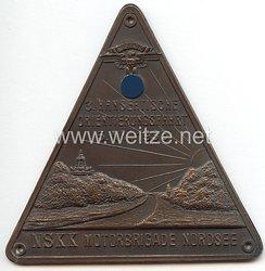 """NSKK - nichttragbare Teilnehmerplakette - """" 3. Hanseatische Orientierungsfahrt 5. Mai 1935 - NSKK Motorbrigade Nordsee """""""
