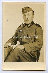 Wehrmacht Heer Foto, Soldaten der Infanterie mit Seitengewehr