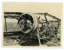 Luftwaffe Foto, abgeschossenes Flugzeug