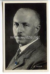 III. Reich - Portraitpostkarte von Gottfried Feder - Mitgründer der Deutschen Arbeiterpartei -