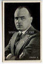 III. Reich - Portraitpostkarte von Dr. Hans Frank als Frank II