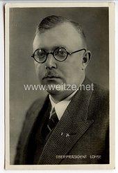III. Reich - Portraitpostkarte von Oberpräsident Hinrich Lohse ( Gauleiter von Schleswig-Holstein )