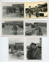 Wehrmacht Heer Fotos, General besichtigt die Ausbildung von Rekruten