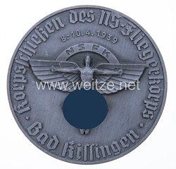 """NSFK - nichttragbare Teilnehmerplakette """"Korpsschießen des NS-Fliegerkorps Bad Kissingen 8.-10.4.1939"""""""