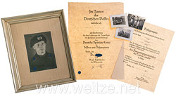Heer - Urkunden- und Fotogruppe für einen Unteroffizier mit verliehenem Panzertruppenabzeichen der Legion Condor in Silber