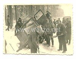 Wehrmacht Heer Foto, LKW Unfall